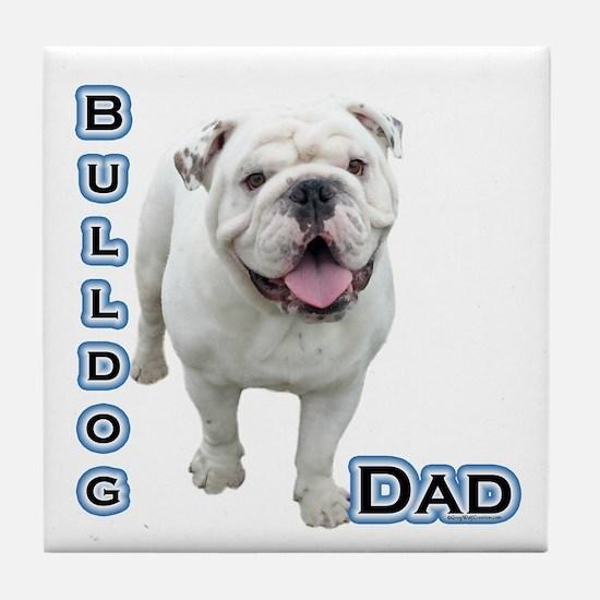 Bulldog Dad4 Tile Coaster