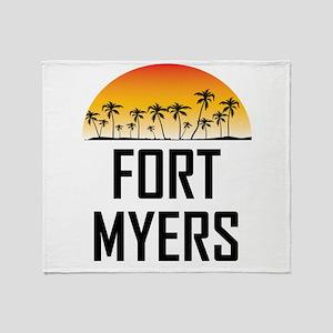 Fort Myers Sunset Throw Blanket