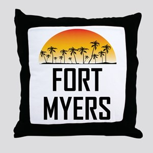 Fort Myers Sunset Throw Pillow