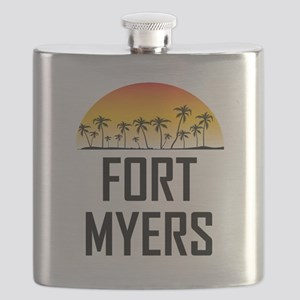 Fort Myers Sunset Flask