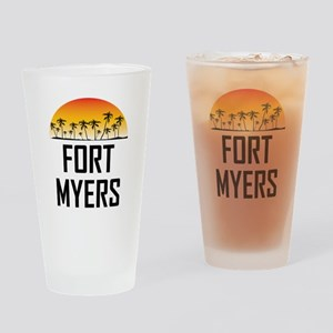 Fort Myers Sunset Drinking Glass