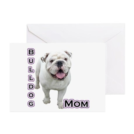 Bulldog Mom4 Greeting Cards (Pk of 10)