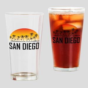 San Diego Sunset Drinking Glass