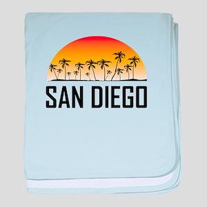 San Diego Sunset baby blanket