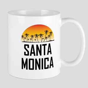 Santa Monica Sunset Mugs