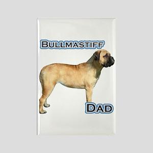 Bullmastiff Dad4 Rectangle Magnet