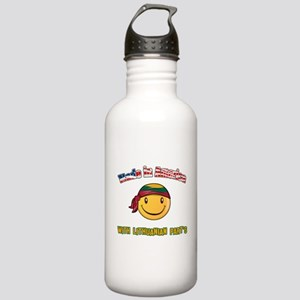 Lithuanian American Stainless Water Bottle 1.0L