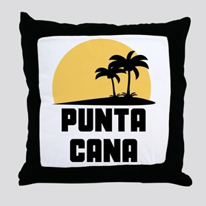 Palm Trees Punta Cana T-Shirt Throw Pillow
