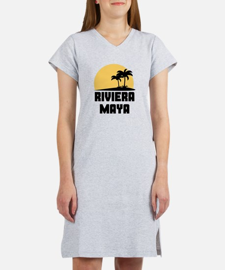 Palm Trees Riviera Maya T-Shirt Women's Nightshirt