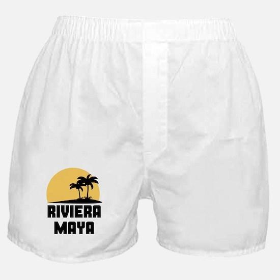 Palm Trees Riviera Maya T-Shirt Boxer Shorts