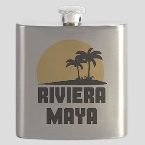 Palm Trees Riviera Maya T-Shirt Flask