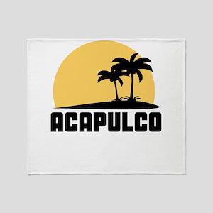 Palm Trees Acapulco T-Shirt Throw Blanket