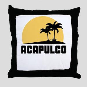 Palm Trees Acapulco T-Shirt Throw Pillow