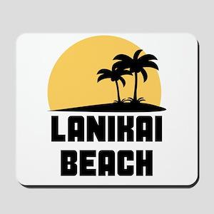Palm Trees Lanikai Beach T-Shirt Mousepad
