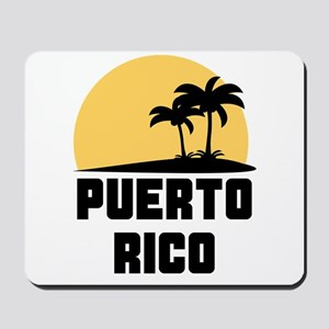 Palm Trees Puerto Rico T-Shirt Mousepad