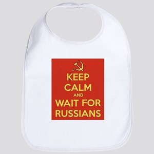Keep Calm and Wait for the Russians Bib