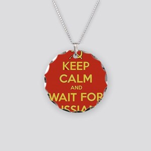 Keep Calm and Wait for the R Necklace Circle Charm