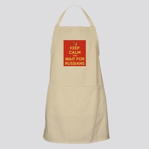 Keep Calm and Wait for the Russians Apron