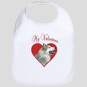 Malamute Valentine Bib