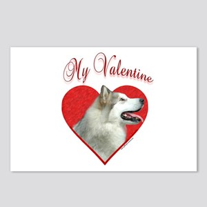 Malamute Valentine Postcards (Package of 8)