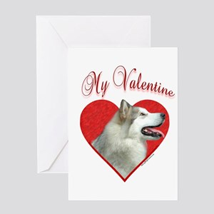 Malamute Valentine Greeting Card