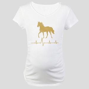 Mtn Horse Skip A Beat Maternity T-Shirt