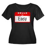 Hello I'm Easy Women's Plus Size Scoop Neck Dark T
