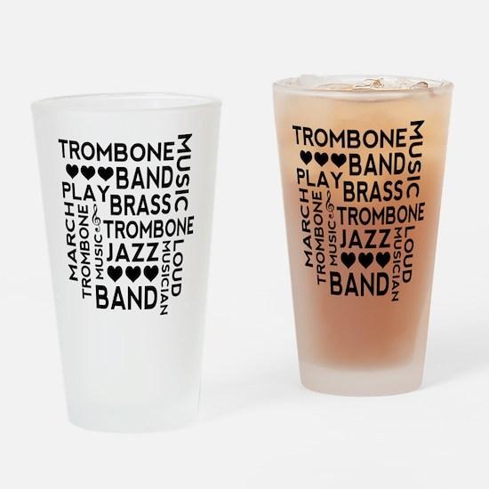 Trombone Band Music Drinking Glass
