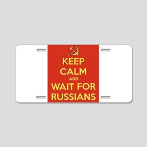 Keep Calm and Wait for the Aluminum License Plate