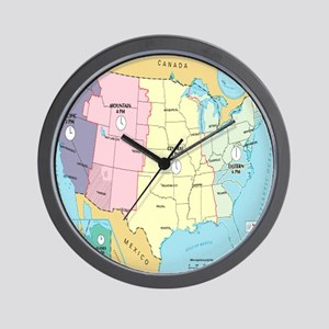 Time Zones United States Wall Clock
