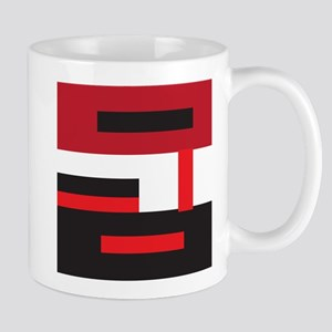 Black White and Red Square Mugs