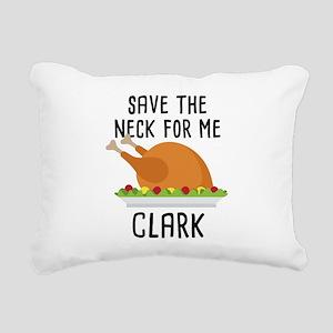 Save The Neck Rectangular Canvas Pillow
