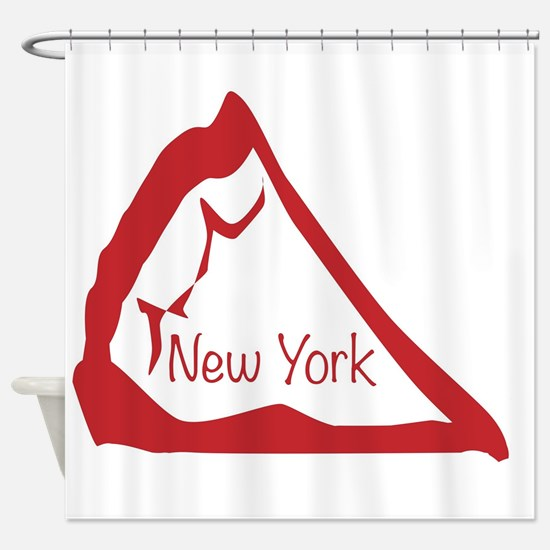 Pizza Slice New York Shower Curtain