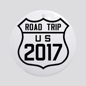 Road Trip US 2017 Round Ornament