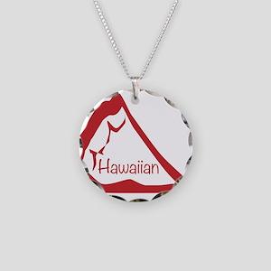 Pizza Slice Hawaiian Necklace Circle Charm