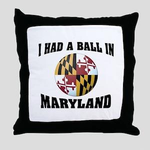MARYLAND FUN Throw Pillow