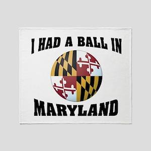 Maryland Fun Throw Blanket