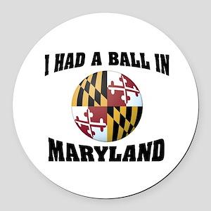 Maryland Fun Round Car Magnet