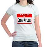 Hello I'm Easily Amused Jr. Ringer T-Shirt