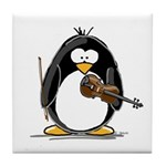 Violin Penguin Tile Coaster