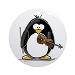 Violin Penguin Ornament (Round)