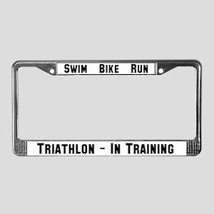 Triathlon - In Training License Plate Frame