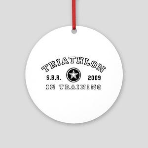 Triathlon - In Training Ornament (Round)