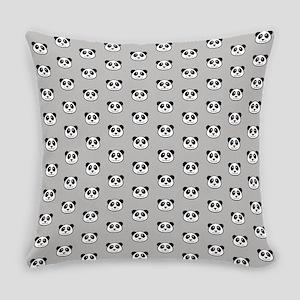Panda Face Pattern Everyday Pillow