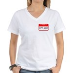 Hello I'm Disturbed Women's V-Neck T-Shirt