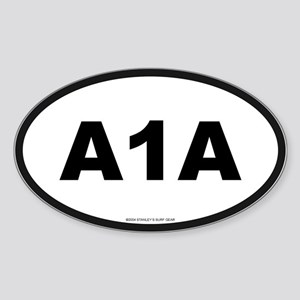 A 1 A Oval Sticker