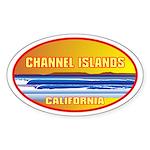 Channel Islands CA Oval Sticker