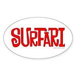 Surfari Oval Sticker