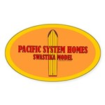 Pacific System Homes Oval Sticker