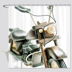 Toy Motorcycle Shower Curtain